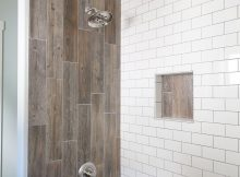 Farmhouse Bathroom Renovation Styled With Duk Liner Wood Tile regarding proportions 3648 X 5472