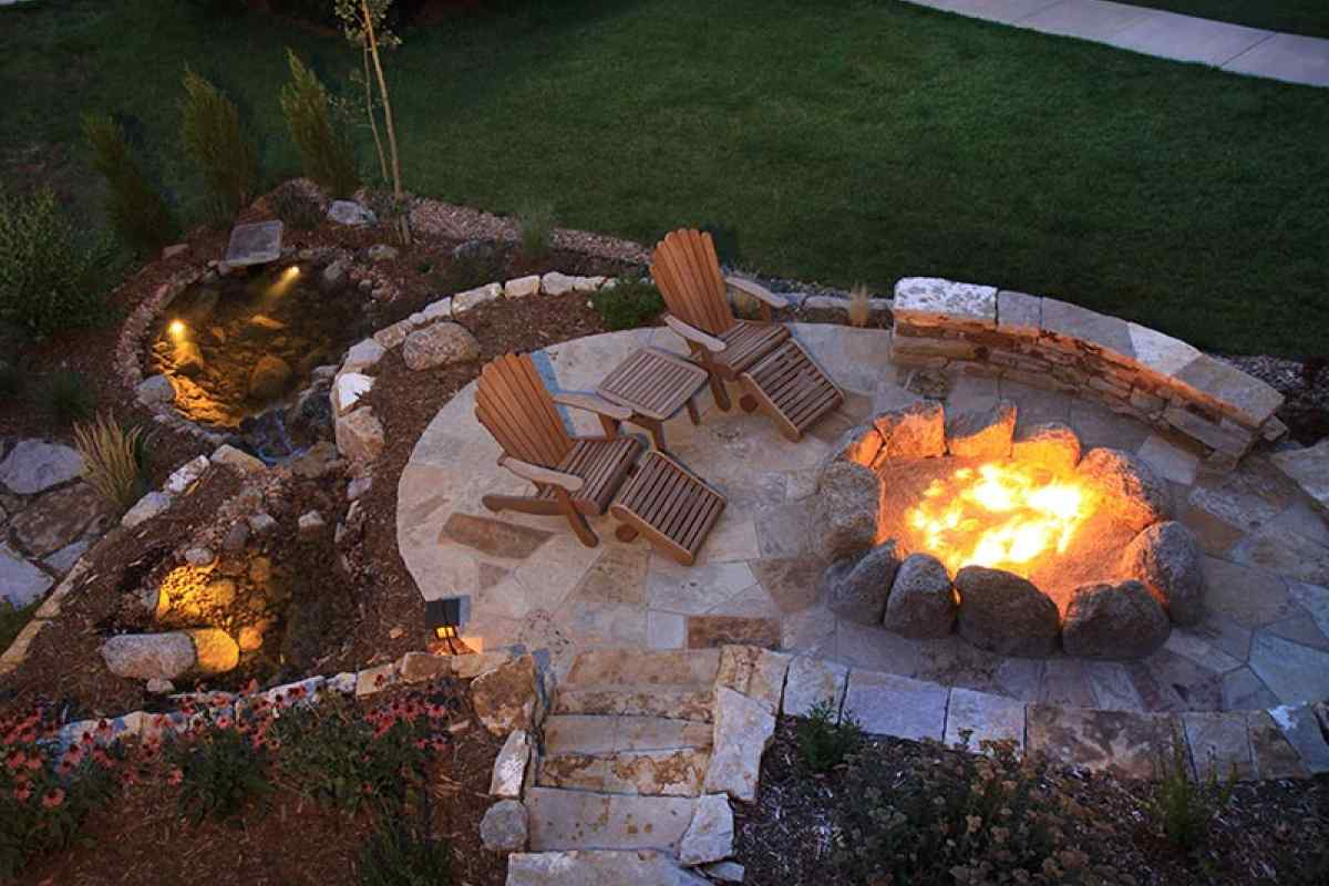 February Landscapes Outdoor Living Space Plans The Burnt Orange inside sizing 1200 X 800