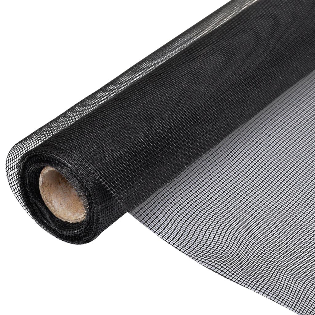 Fiberglass Mesh Roll Insect Screen Door Window 5 X 33 Black for dimensions 1024 X 1024
