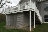 Fiberon Castle Gray Deck With Storage Shed Under Deck throughout dimensions 4032 X 3024