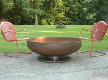 Fire Pit 48 Inch Medium Depth Pedestal Base Firepit Metal Fire Etsy regarding measurements 1106 X 803