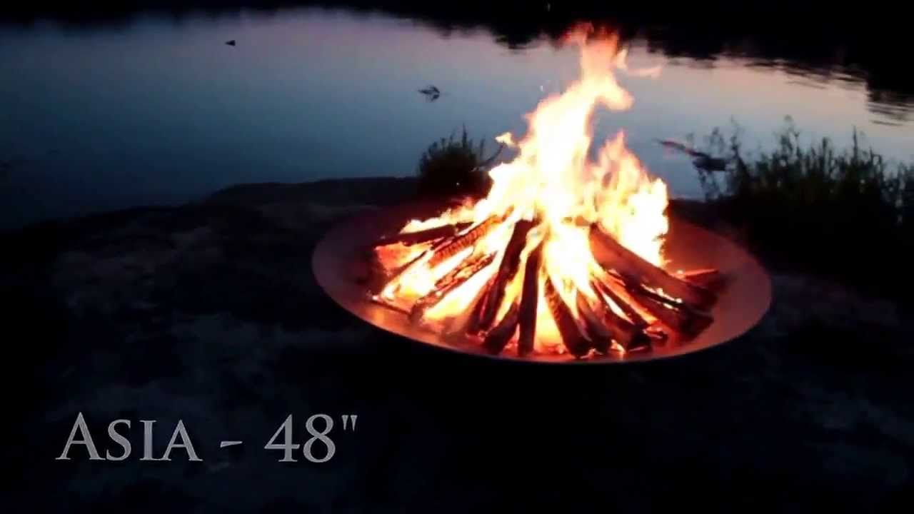 Fire Pit Art Asia 48 Inch Fire Pit Kingfirepits Fire Pits throughout proportions 1280 X 720