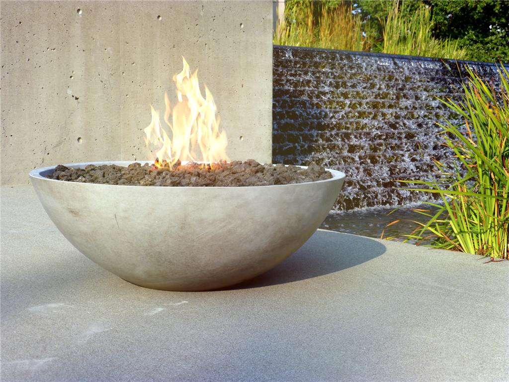 Fire Pit Bowls Concrete Fireplace Design Ideas pertaining to proportions 1024 X 768
