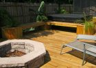 Fire Pit Built Into Wood Deck Decks Ideas within size 3648 X 2736