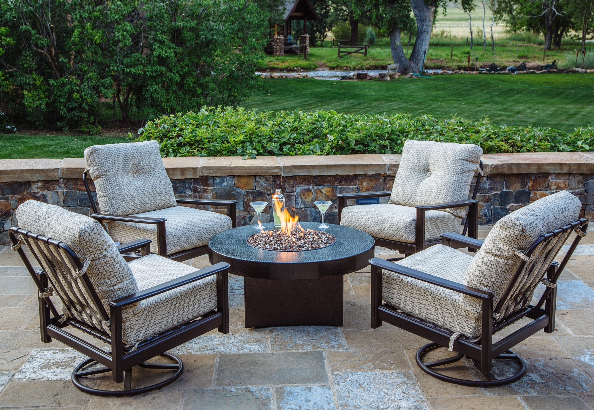 Fire Pit Chat Set 5 Piece Outdoor Chat Set Allbackyardfun pertaining to proportions 2000 X 1381