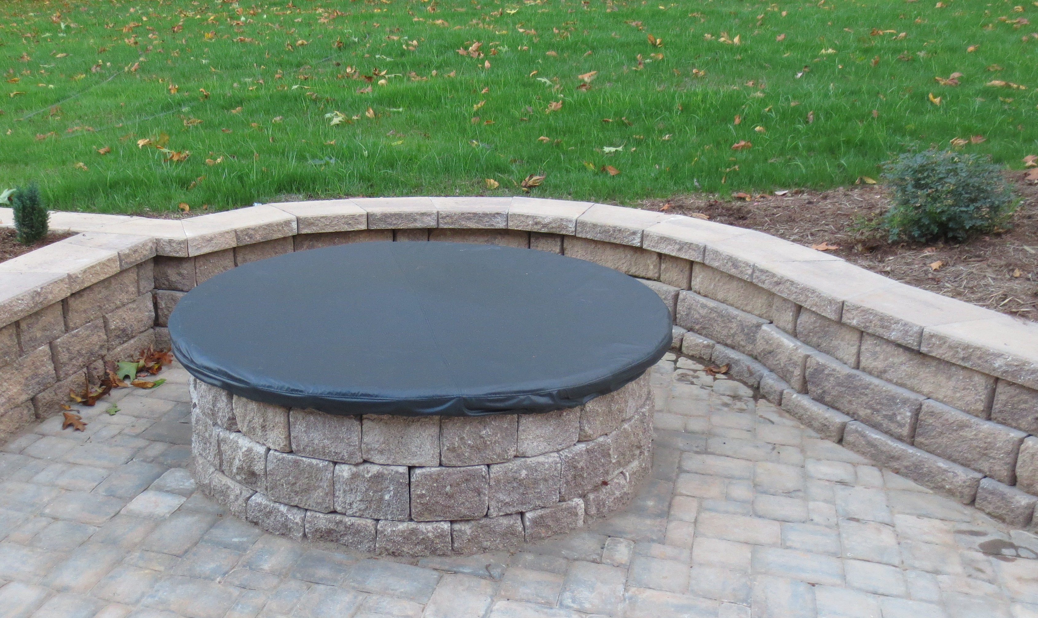 Fire Pit Cover Equip Home Fitness intended for proportions 3377 X 2010