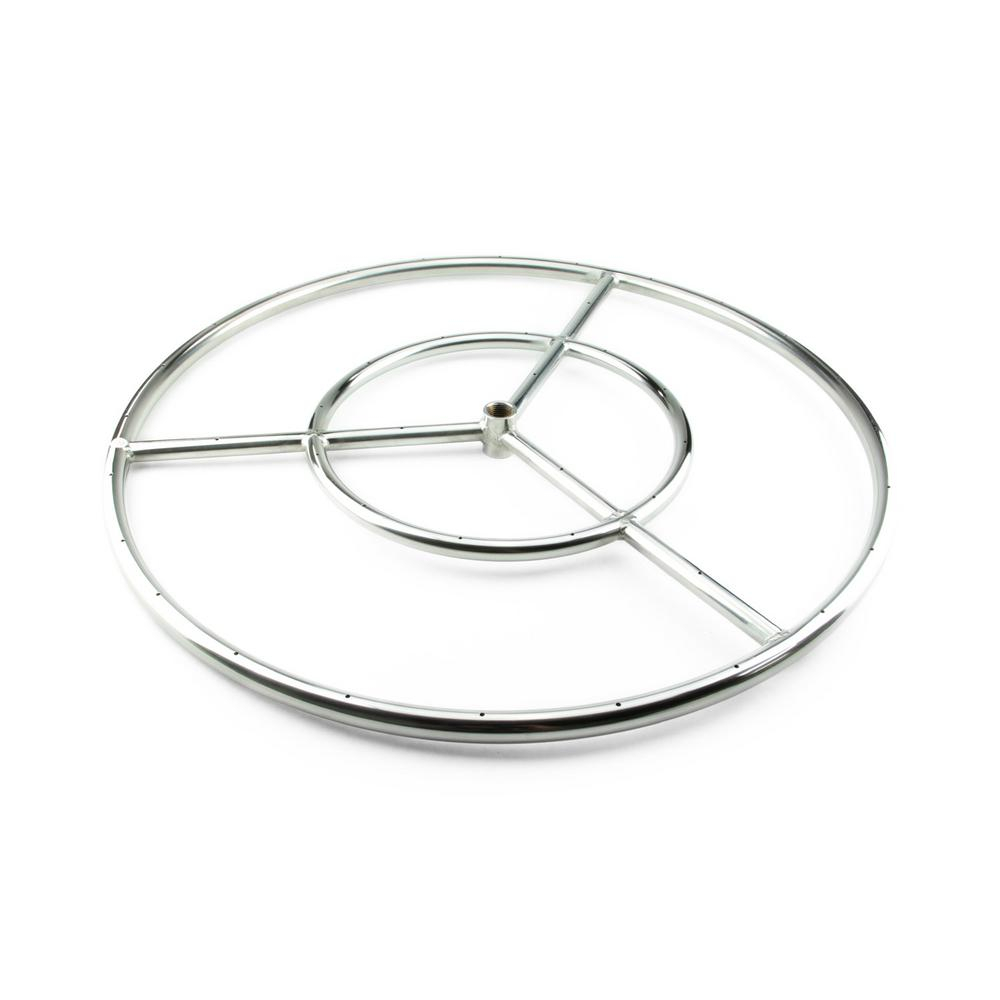 Fire Pit Essentials 18 In Stainless Steel Fire Ring Burner With throughout dimensions 1000 X 1000