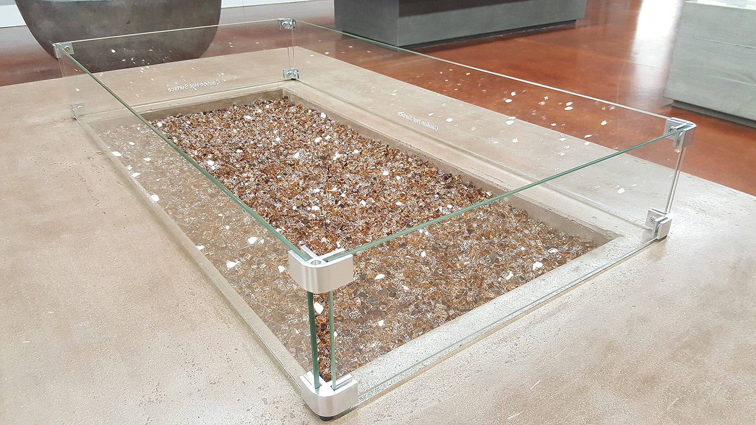 Fire Pit Glass Wind Guards Round 23 Inch Fire Pit Glass Fire pertaining to proportions 1500 X 844