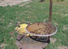 Fire Pit Made From A Tractor Wheel Grate And Steel For Holding Pots with regard to proportions 2304 X 3072