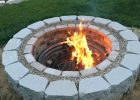 Fire Pit Made From Bricks Grout Gravel And Retaining Wall Blocks with regard to size 1000 X 1334
