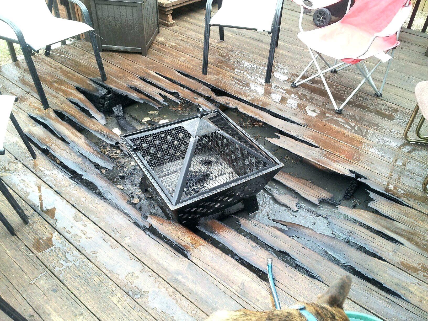 Fire Pit On Wooden Deck Decks Ideas pertaining to measurements 1632 X 1224