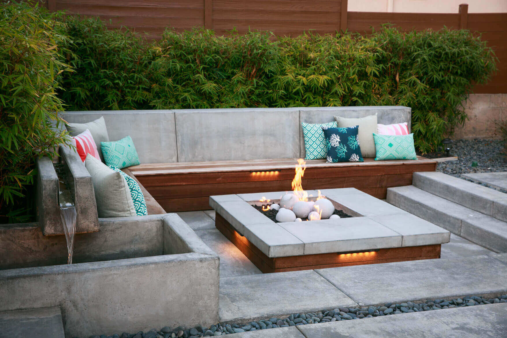 Fire Pit Outdoor Water Features Backyard Design Hardscaping In throughout dimensions 1755 X 1170