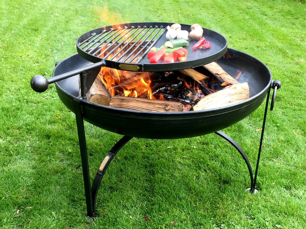 Fire Pit Plain Jane Collection With Swing Arm Bbq Rack Firepits Uk regarding proportions 1024 X 768