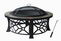 Fire Pit With Pvc Cover Black With Antique Bronze Leg Frame within measurements 2000 X 2000