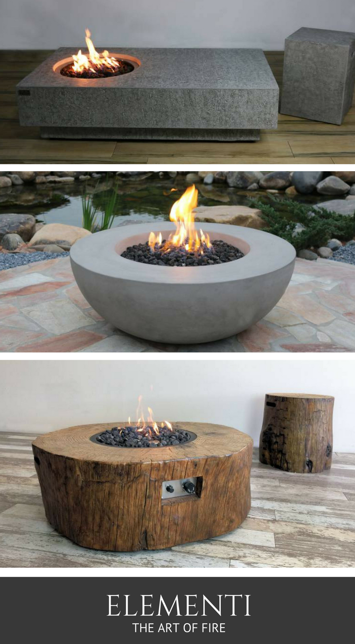 Fire Pits Elementi Are Handcrafted From Cast Concrete And Eco with regard to measurements 732 X 1327