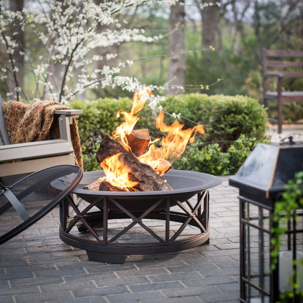 Fire Sense 30 In Portsmouth Weathered Bronze Fire Pit Outdoor throughout measurements 1000 X 1000