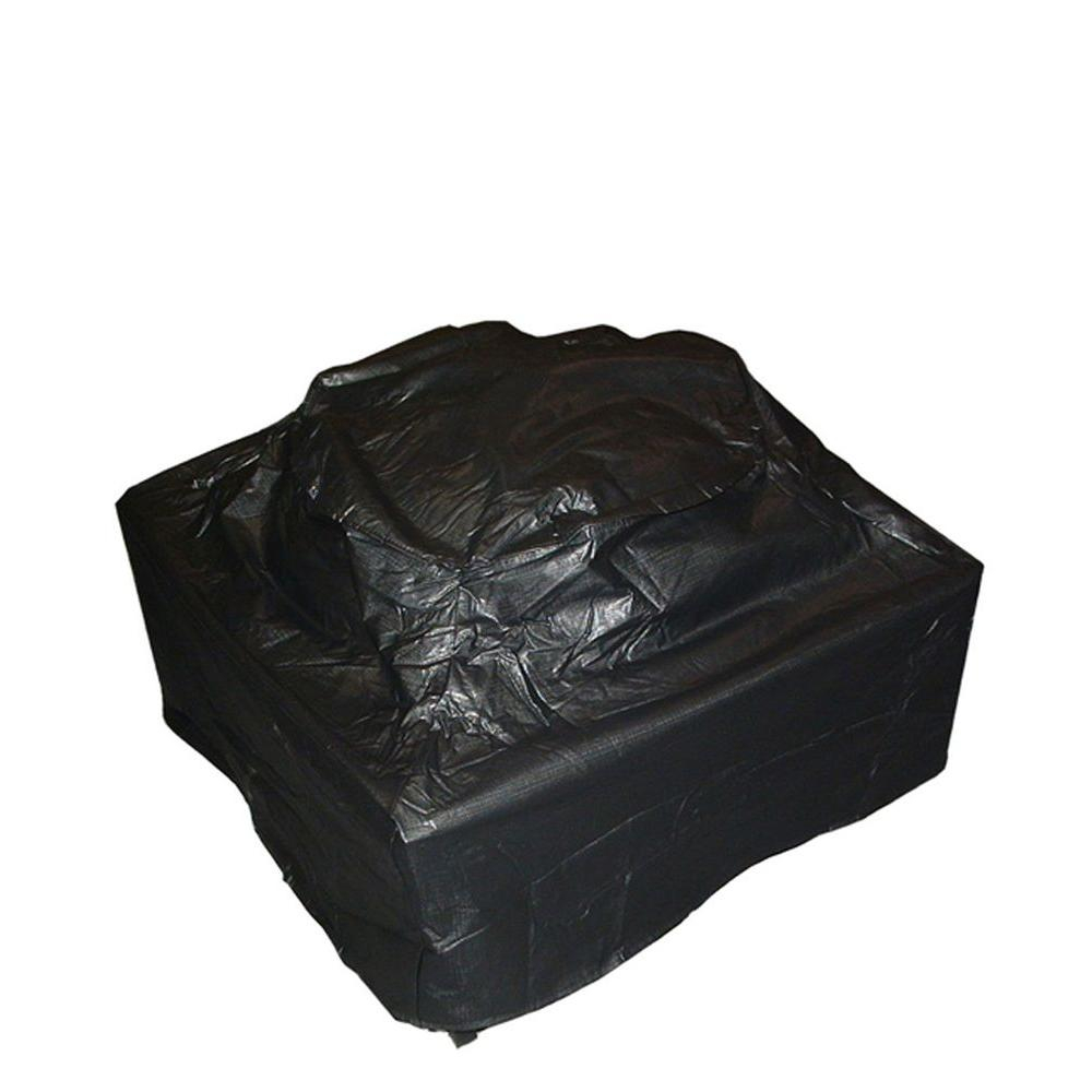 Fire Sense 38 In 10 Gauge Square Firepit Table Vinyl Cover 02056 within proportions 1000 X 1000