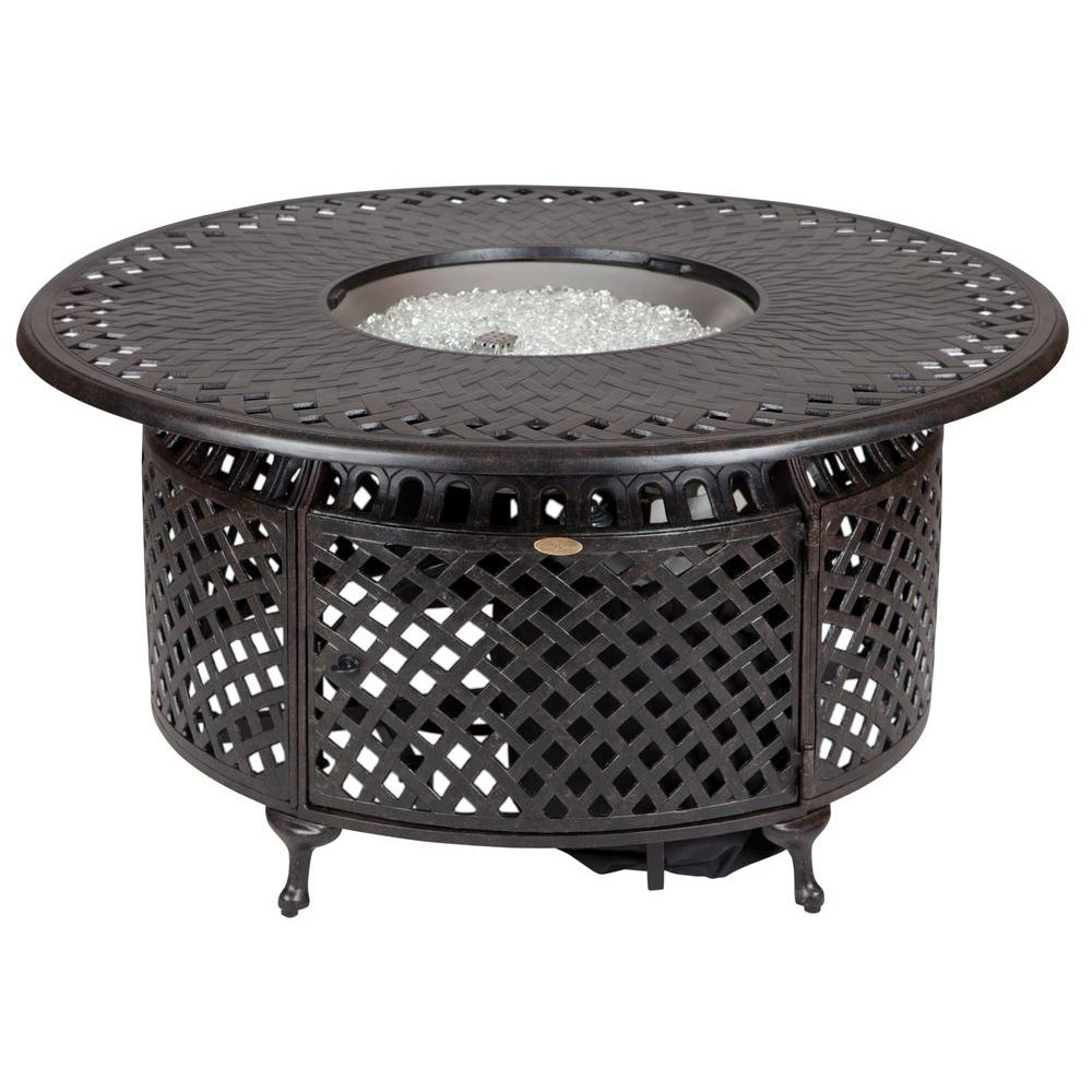 Fire Sense 48 In X 24 In Venza Cast Aluminum Round Lpg Fire Pit intended for dimensions 1000 X 1000
