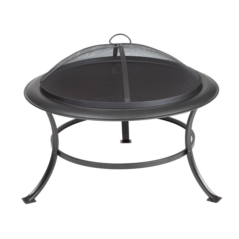Fire Sense Tokia 30 In Round Steel Fire Pit In Antique Bronze 62237 for measurements 1000 X 1000