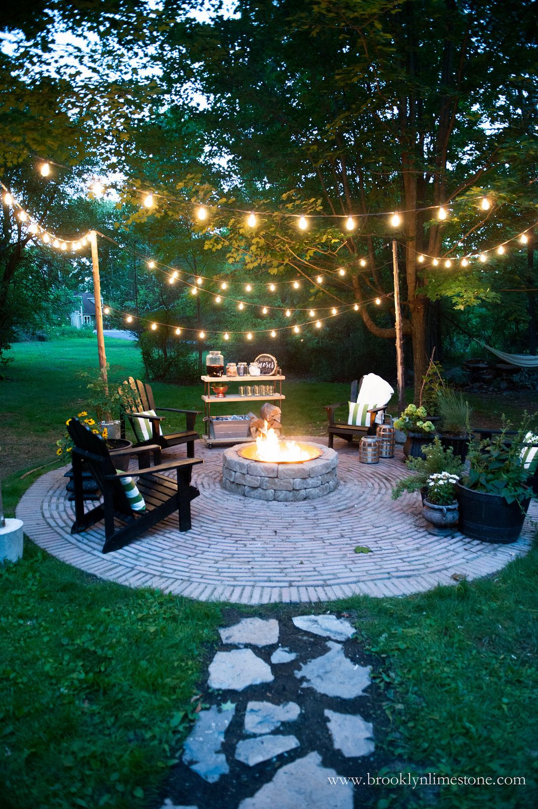 Firepit Patio Country Cottage Diy Circular Outdoor Entertaining for measurements 1065 X 1600