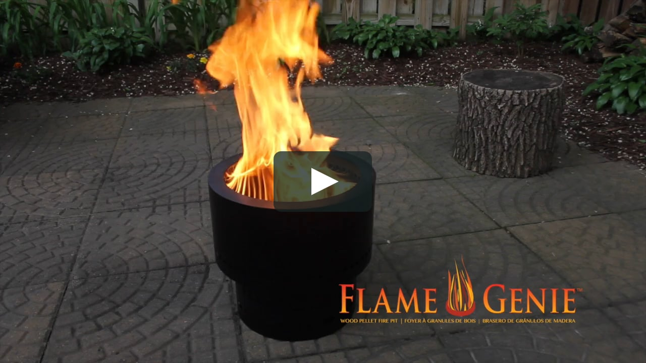 Flame Genie Wood Pellet Fire Pit On Vimeo with dimensions 1280 X 720