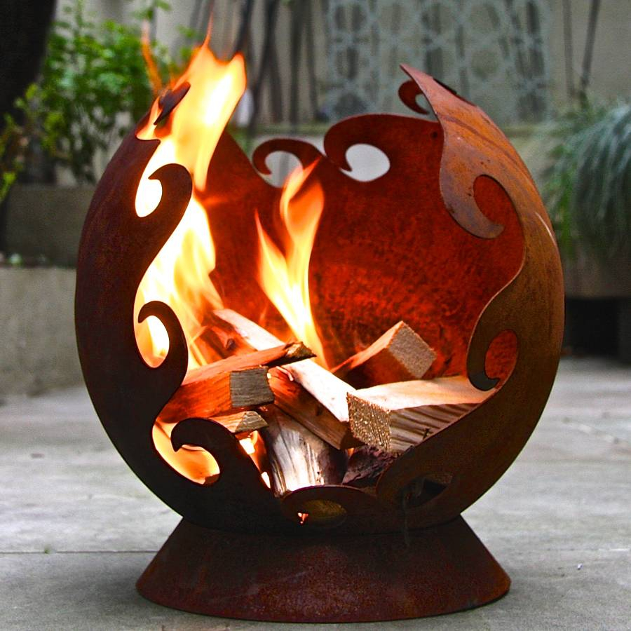 Flames Firepit London Garden Trading Notonthehighstreet intended for dimensions 900 X 900