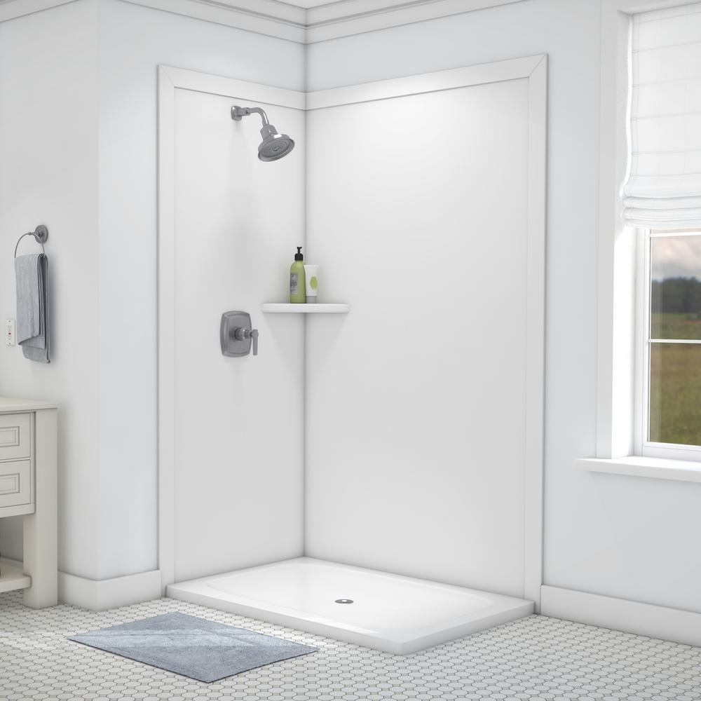 Flexstone Elegance 36 In X 48 In X 80 In 7 Piece Easy Up Adhesive in sizing 1000 X 1000
