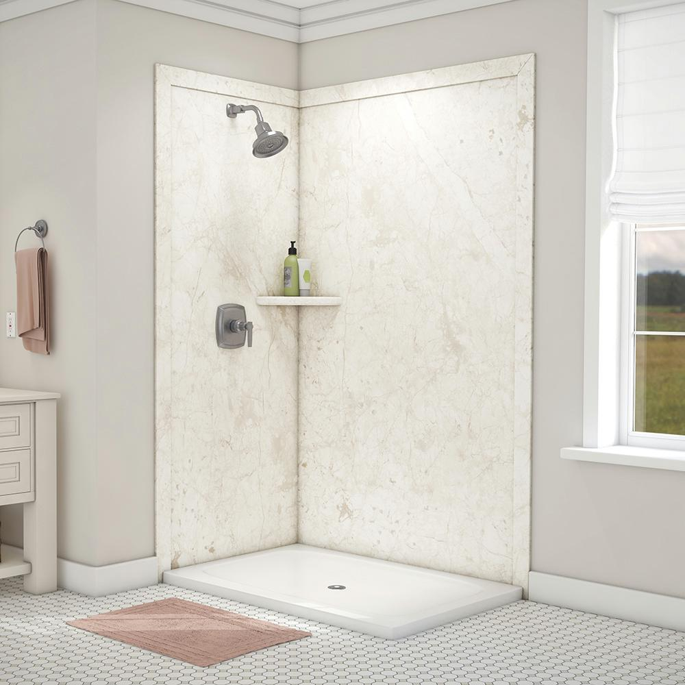 Flexstone Elegance 36 In X 48 In X 80 In 7 Piece Easy Up Adhesive intended for measurements 1000 X 1000