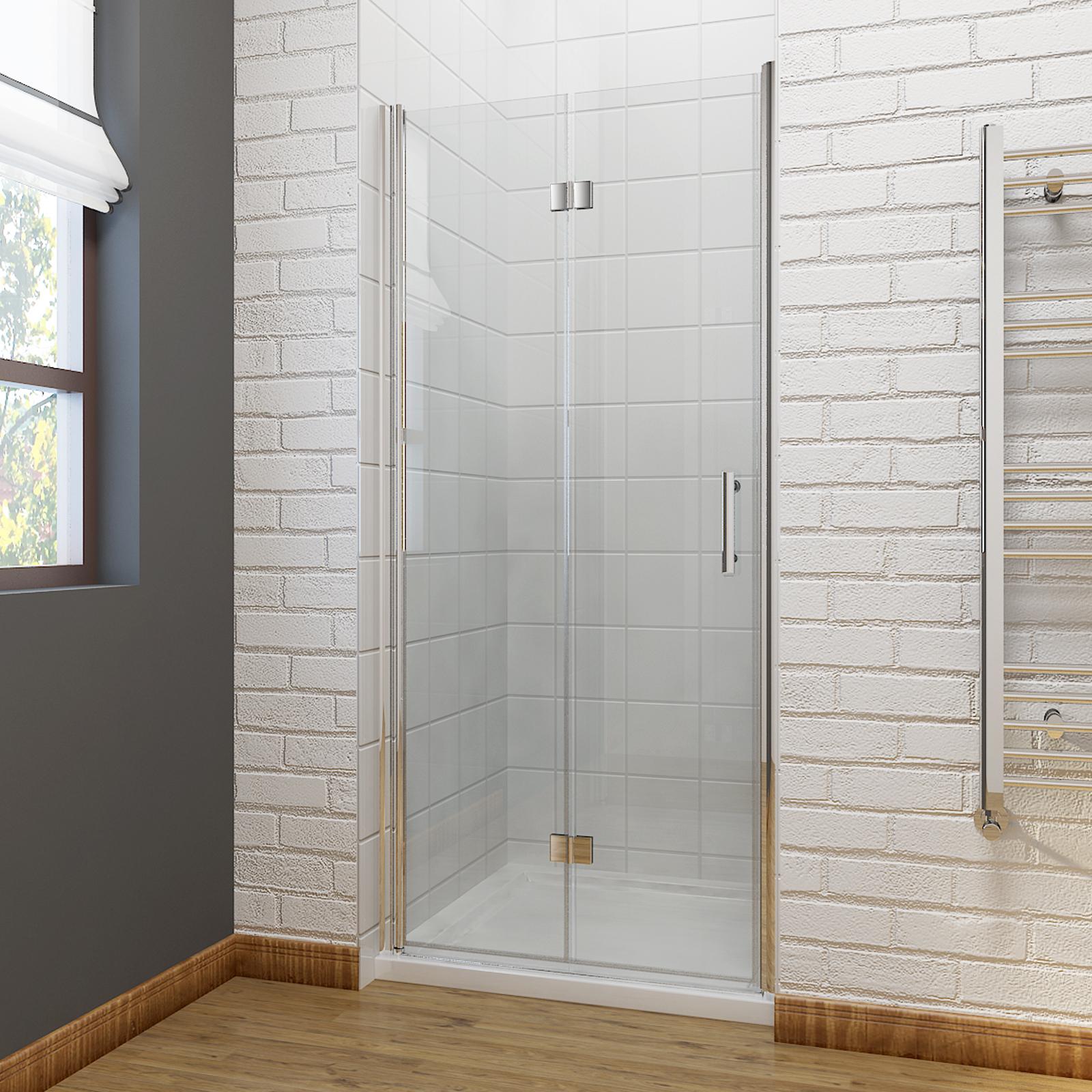 Frameless Bifold Shower Door Enclosure Hinge Door Glass Screen Walk for dimensions 1600 X 1600
