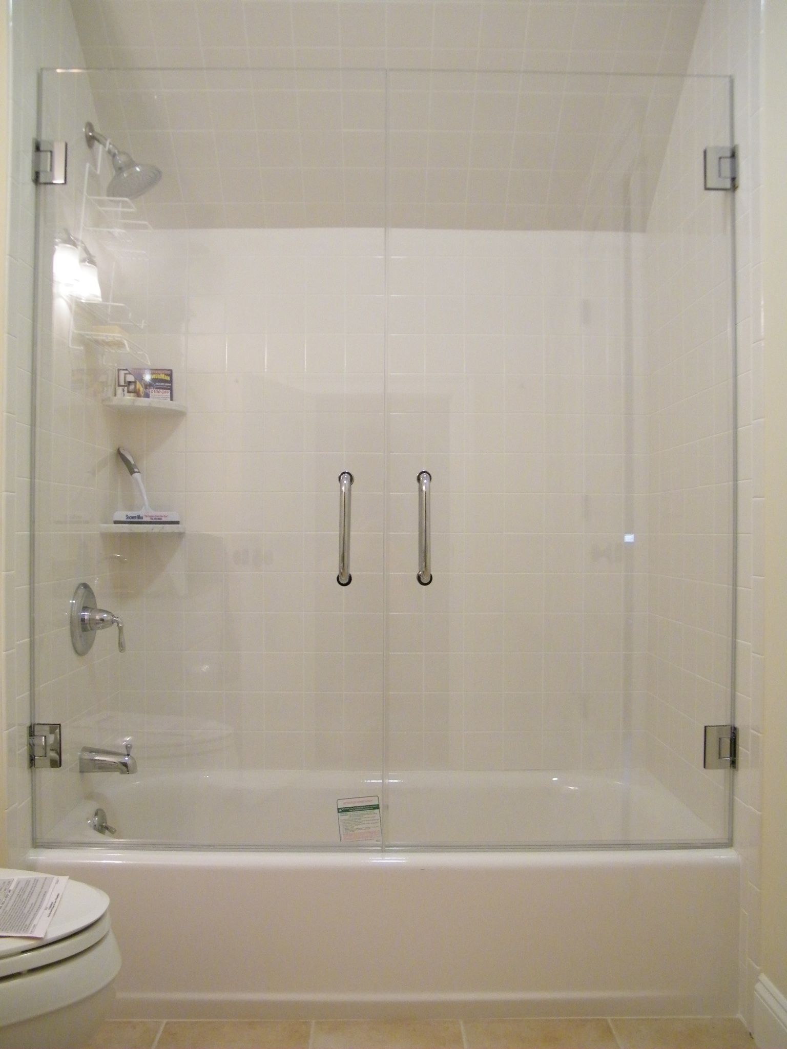 Frameless Glass Tub Enclosure Framless Glass Doors On Your Bath Tub intended for size 1536 X 2048