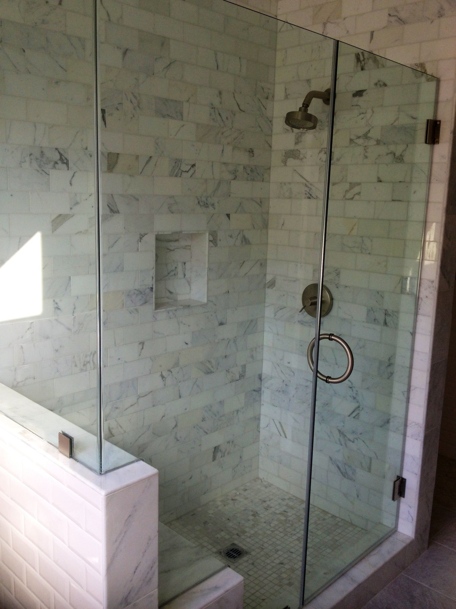 Frameless Shower Glass Door With Cut Out For Bench Frameless Glass with regard to sizing 1536 X 2048