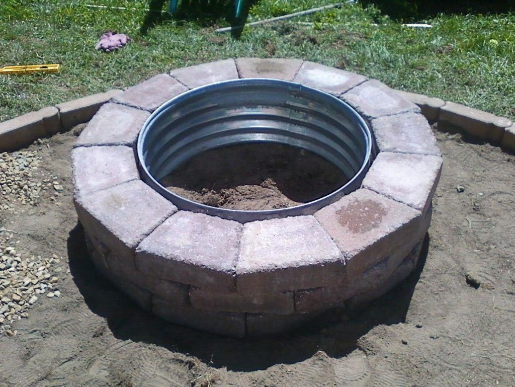Galvanized And Brick Fire Pit Ring Galvanized Fire Pit Ring Diy regarding measurements 1024 X 769