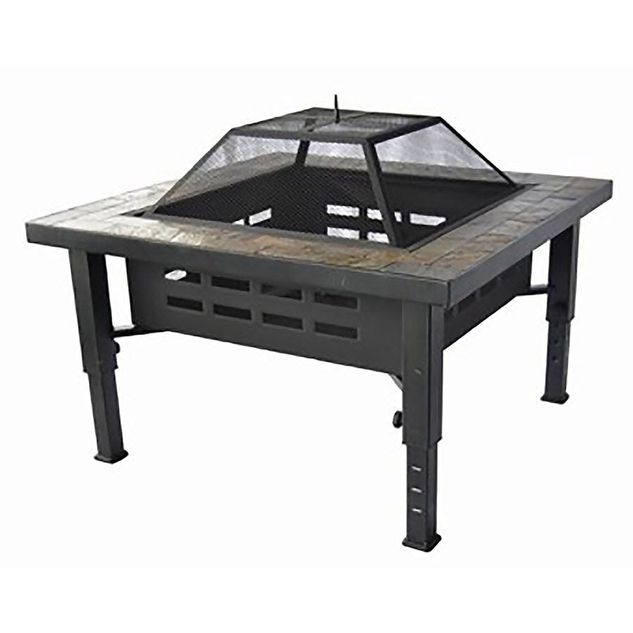 Garden Treasures 34 In W Brushed Bronze Steel Wood Burning Fire Pit with regard to size 900 X 900