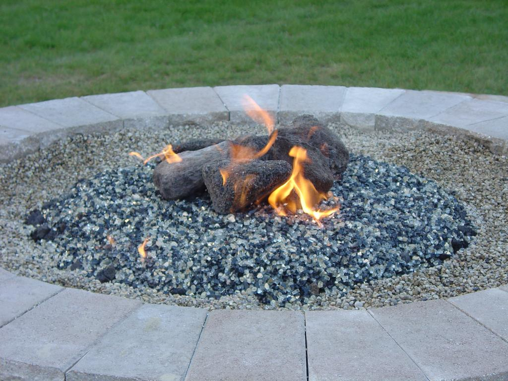Gas Fire Pit Glass Rocks Fireplace Design Ideas intended for dimensions 1024 X 768