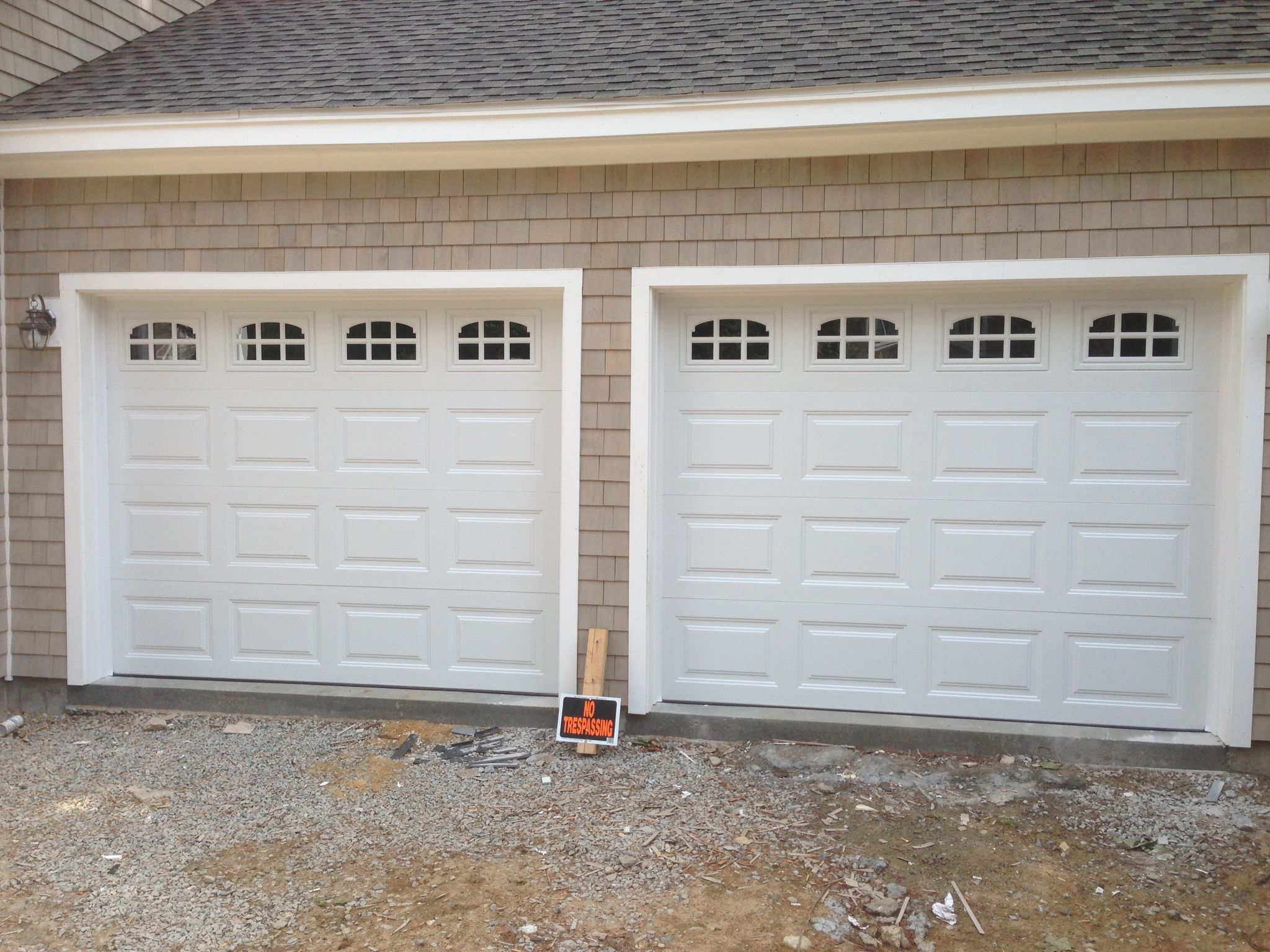 Haas Model 680 Steel Raised Panel Garage Doors In White With Cascade with regard to measurements 2048 X 1536