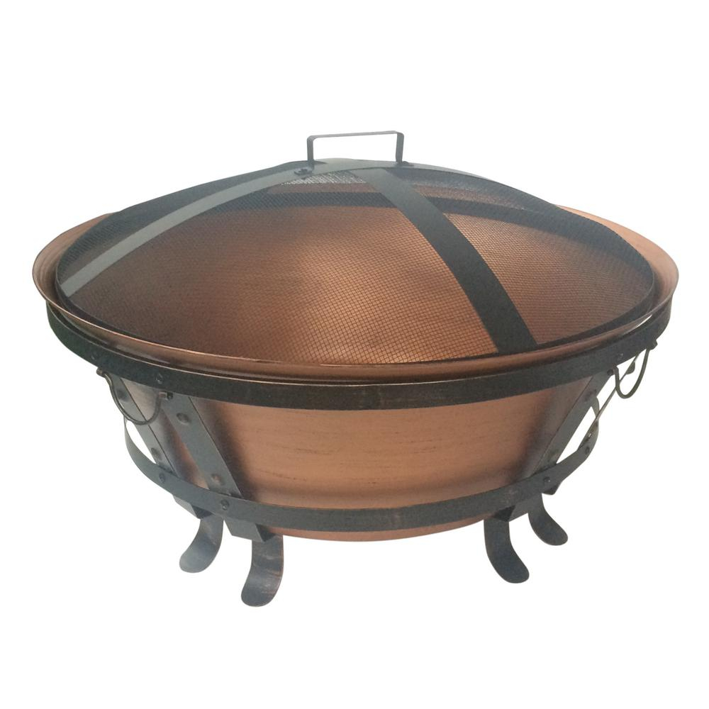 Hampton Bay 34 In Whitlock Cast Cauldron Fire Pit Ft 116 The Home throughout proportions 1000 X 1000