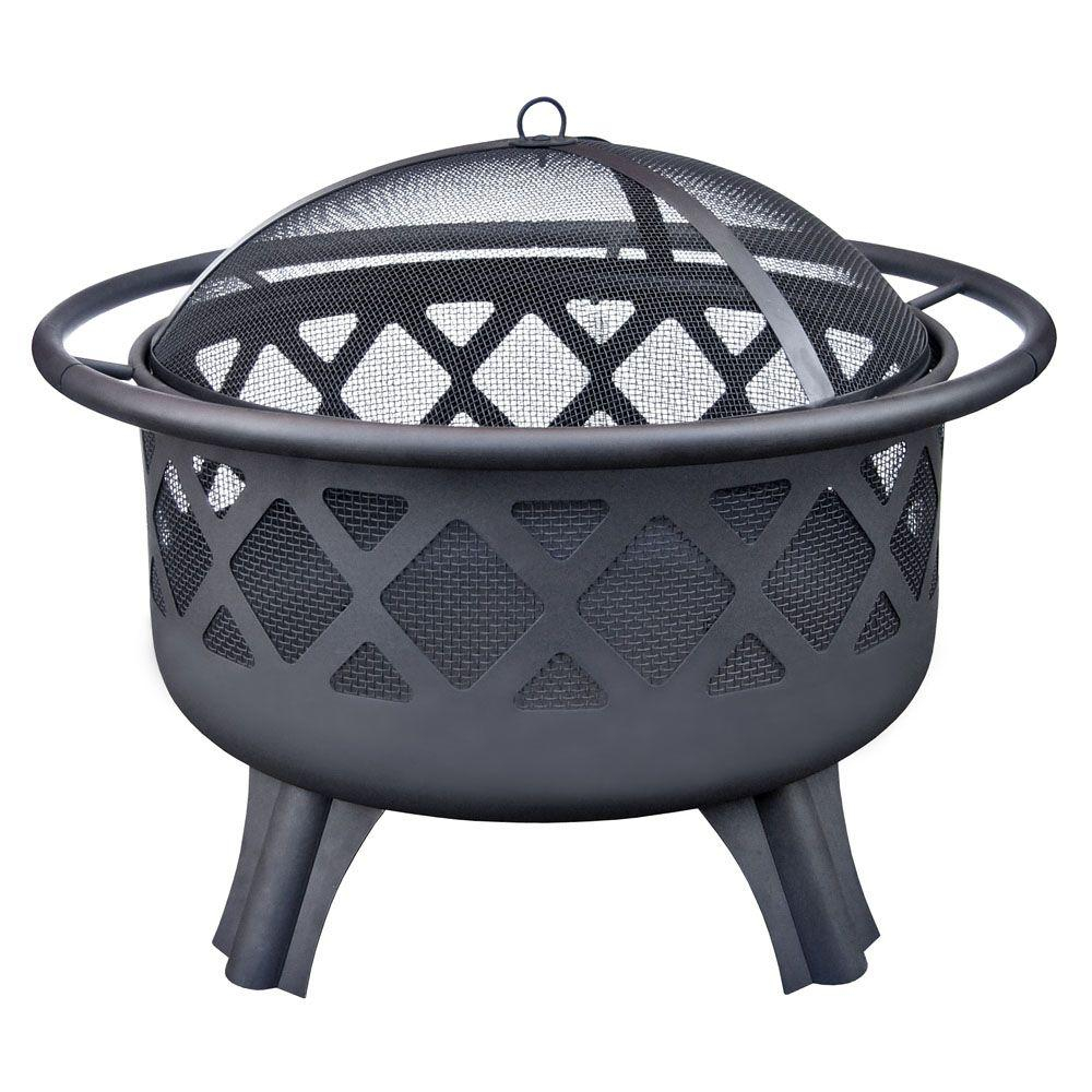 Hampton Bay Crossfire 2950 In Steel Fire Pit With Cooking Grate within dimensions 1000 X 1000