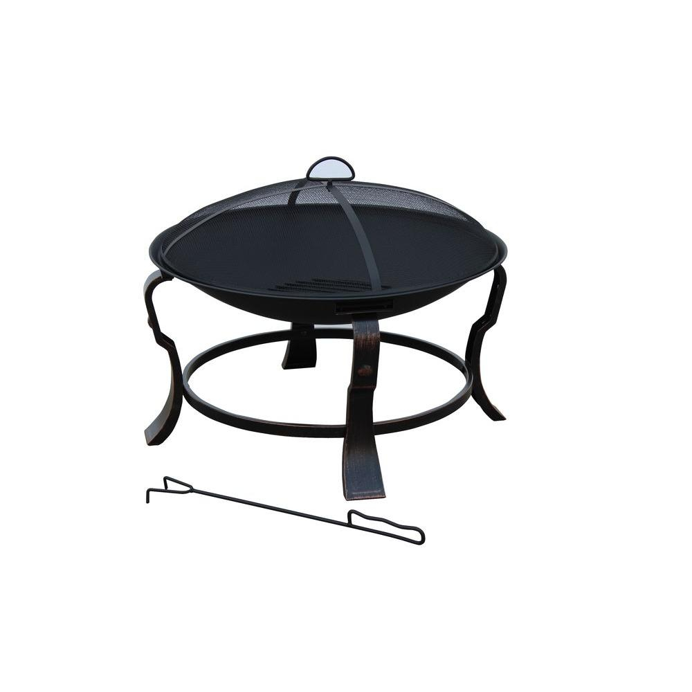 Hampton Bay Ft 01h Ashmore Round Steel Fire Pit 24 Inches Black for sizing 1000 X 1000
