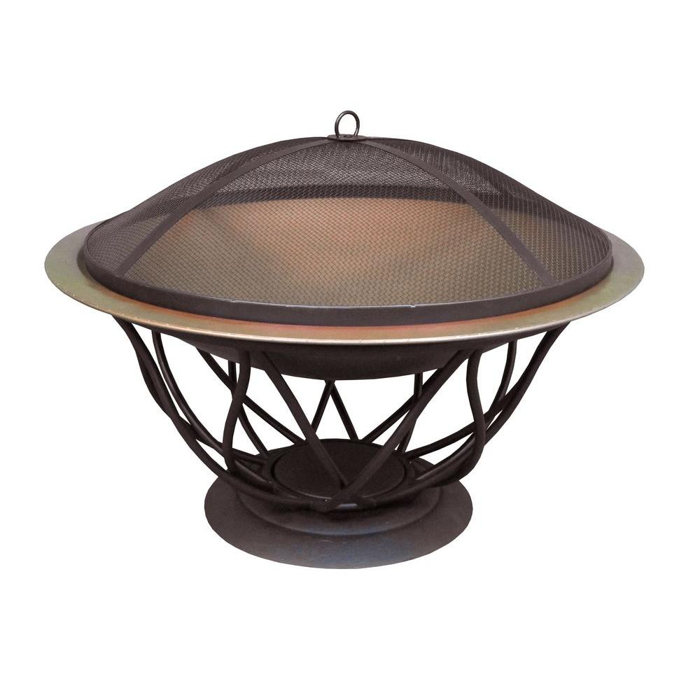 Hampton Bay Maison 30 In Copper Finish Bowl Fire Pit 25945 The within measurements 1000 X 1000