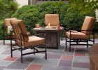 Hampton Bay Niles Park 5 Piece Gas Fire Pit Patio Seating Set With intended for measurements 1000 X 1000