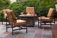 Hampton Bay Niles Park 5 Piece Gas Fire Pit Patio Seating Set With regarding dimensions 1000 X 1000