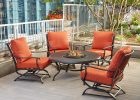 Hampton Bay Redwood Valley 5 Piece Metal Patio Fire Pit Seating Set throughout proportions 1000 X 1000