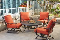 Hampton Bay Redwood Valley 5 Piece Metal Patio Fire Pit Seating Set throughout size 1000 X 1000