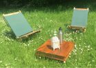 Handmade Portable Natural Hard Wood Deck Chair intended for measurements 1200 X 813