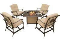 Hanover Traditions 5 Piece Patio Fire Pit Seating Set With Cast Top intended for size 1000 X 1000