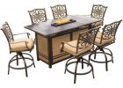 Hanover Traditions 7 Piece Aluminum Rectangular Outdoor High Dining with sizing 1000 X 1000