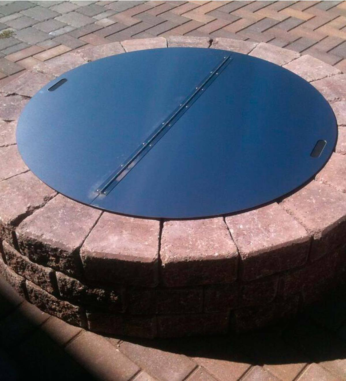 Heavy Duty Stainless Steel Round Fire Pit Cover Plowhearth with regard to proportions 1200 X 1321