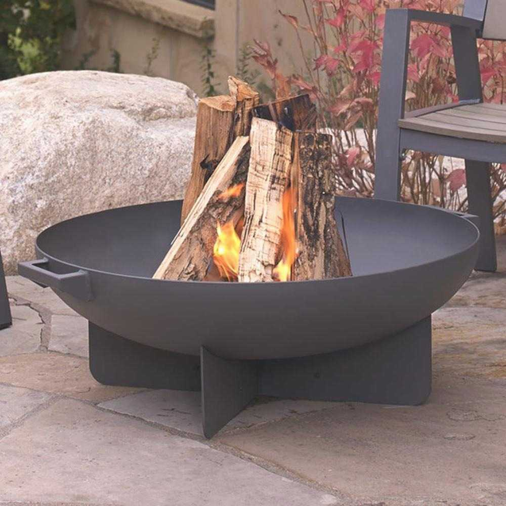 Heavy Gauge Steel Fire Pit Elegant Bowl And Screen Wood For 2 with regard to size 1000 X 1000