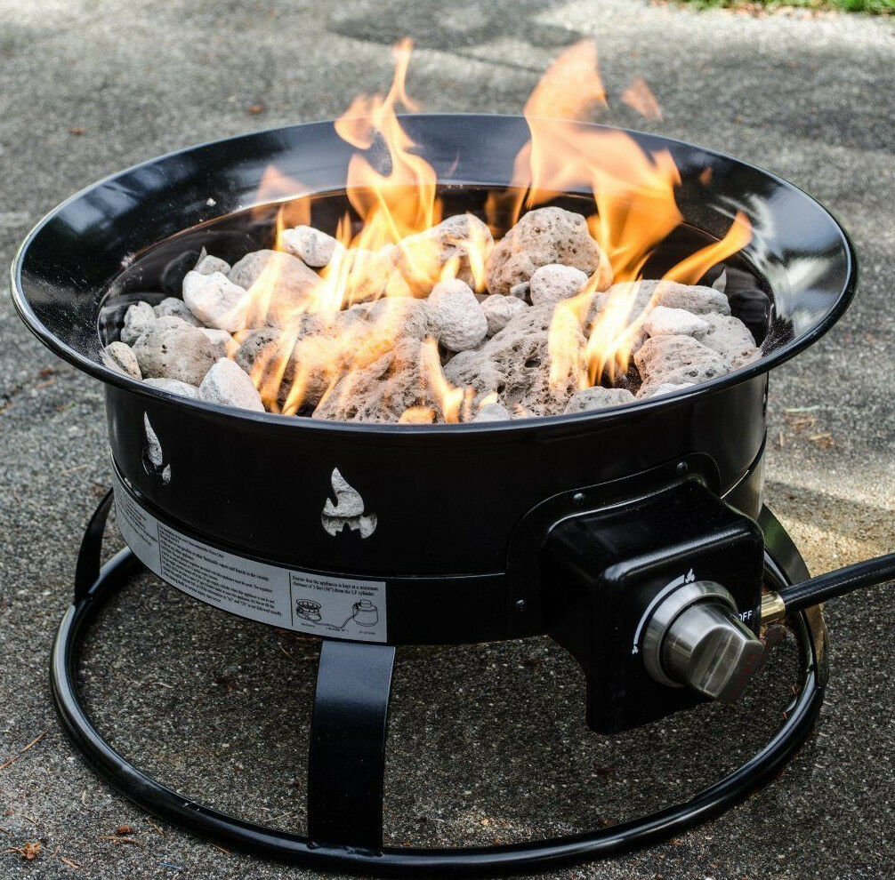 Heininger 58000 Btu Portable Propane Outdoor All Weather Fire Pit in size 1006 X 990