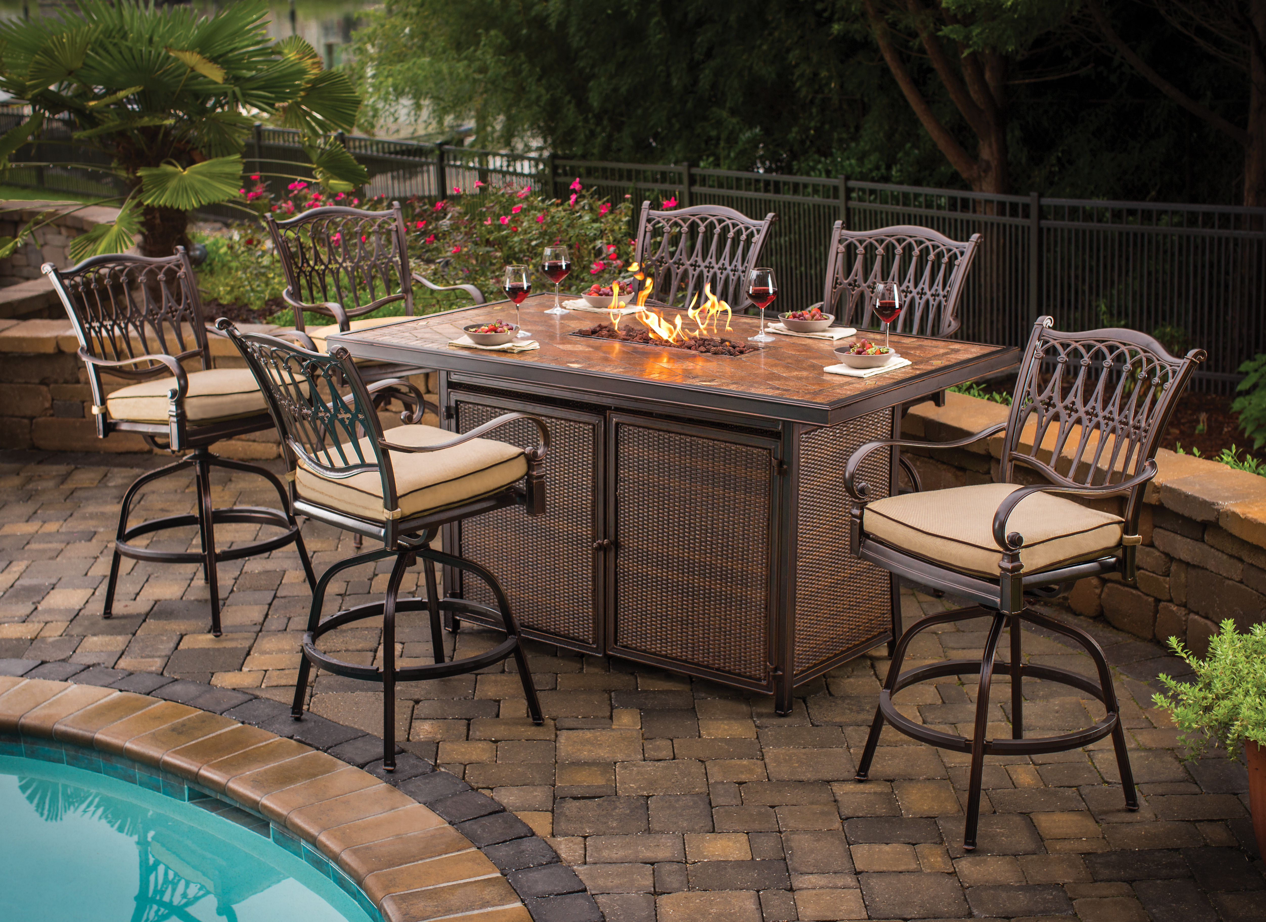 High Bar Table With Propane Fire Pit In It 1713kaartenstempnl throughout dimensions 5007 X 3645